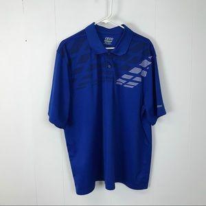 Izod golf mens blue polo shirt XXL